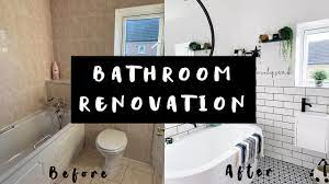 Bathroom Renovation Makeover Tour Before And After Ad Youtube