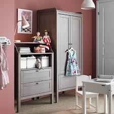 girls bedroom furniture ikea. kidsu0027 storage with sundvik wardrobe and chest of drawers in greybrown girls bedroom furniture ikea u