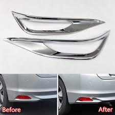 Us 1858 7 Offyaquicka Auto Car Rear Back Fog Lamp Fog Light Cover Trim Car Covers For Honda City Sedan 2014 2015 2016 Chromium Styling Abs In