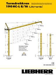 Tower Cranes Liebherr Specifications Cranemarket