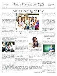 Newspaper Articles Template Newspaper Article Assignment Template