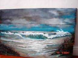reclaimed wood wall art seascape ocean beach painting made to order original hand painted on painted reclaimed wood wall art with reclaimed wood wall art seascape ocean beach painting made to order