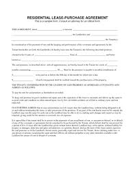 House Contract Form Rent To Own Home Contract Template