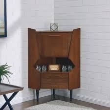 Image Wet Bar Hester Corner Bar Cabinet Wayfair Corner Bars Bar Sets Youll Love Wayfair