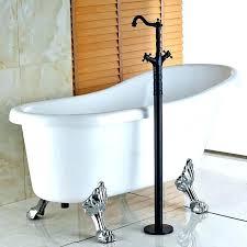 faucet for freestanding tub freestanding pedestal tub oil rubbed bronze dual cross handles floor mount bathroom