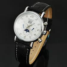 aliexpress com buy moon phase mechanical watch jaragar calendar aliexpress com buy moon phase mechanical watch jaragar calendar automatic mechanical watches men luxury diamond leather wristwatch from reliable watch the