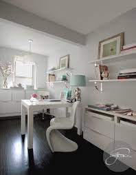 white airy home office. Light \u0026 Airy Home Office White D