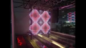 outdoor transpa glass led display screen led curtain display led mesh