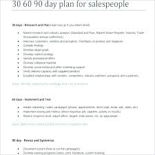 Day Plan For New Manager Word Template 30 60 90 Day Sales