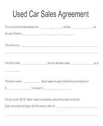 Automobile Sales Agreement Vehicle Sales Agreement Template Uk Vehicle Sale Contract