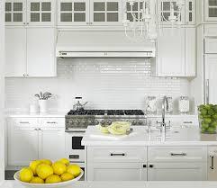 Tile Backsplash Ideas For White Cabinets Impressive White Subway Tile Backsplash Ideas White Shaker Kitchen