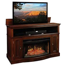 contemporary electric fireplace tv stand