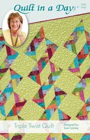 Triple Twist Quilt Pattern from Quilt In A Day &  Adamdwight.com