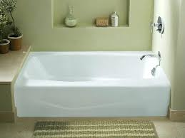 x alcove bath with integral a and right bathtub drain kit brushed nickel villager hand