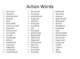 Strong Action Verb List Strong Resume Verbs Action Verbs List