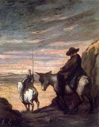 don quixote and sancho panza by honoré victorin daumier c oil on canvas the armand hammer museum of art and cultural center los angeles