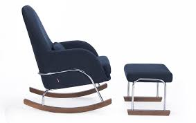 blue rocking chair. Modern Jackson Rocker And Ottoman - Midnight Blue Shown. Rocking Chair