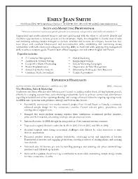 Sample Resume For Sales Amp Marketing Manager In A Hotel