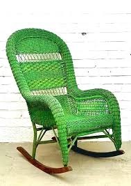 wicker rocking chair cushions rocking chair set patio rocker set wicker rocking chair with green color