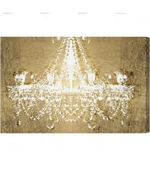 on gold canvas wall art throughout chandelier canvas wall art image 8 of 15