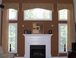 Window Treatments For Large Windows In Living Room Wide White Horizontal Blind Window Treatment Idea For Large Window