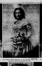 Mrs William Moffett Haraway Jr (Alberta Lawrence), bridal portrait -  Newspapers.com