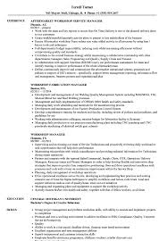 Manager Resume Sample Workshop Manager Resume Samples Velvet Jobs