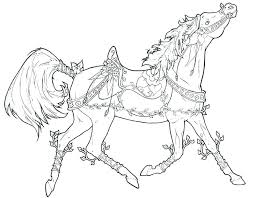 horse coloring pages to print racin spirit