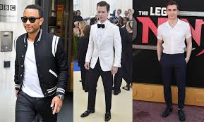 monochromatic or a loosely tonal colour scheme assists in creating a streamline look bold colour blocking is not an option for the shorter guy