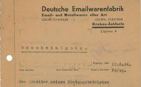 schindler documents sell for k at auction the times of the 1944 letter up for auction helped secure the safety of oskar schindler s jewish factory workers