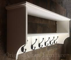 Solid Wood Coat Rack Hat coat rack with shelf Painted wall mounted solid wood 61