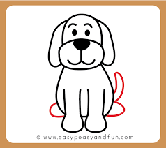 dog drawing easy. Fine Dog Draw The Dog Tail And Hind Legs In Dog Drawing Easy O