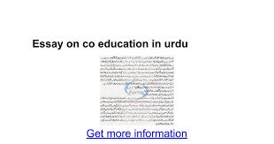 essay on co education in urdu google docs