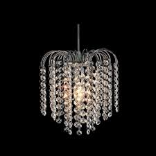 fresh idea mini chandelier pendants fashion style chandeliers crystal lights chrome modern 1 light with waterfall strands pendant