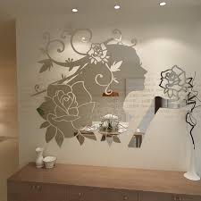 wall stickers make beautiful mirror collection offering modern wall decor  ideas