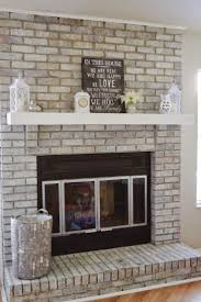 Gray Brick Fireplace Fireplace Awesome Whitewashing Brick Fireplace Surround How To