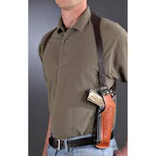 leather vertical shoulder holster tan black double tap to zoom