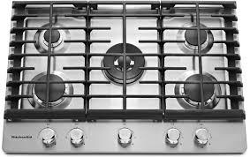 kcgs950ess kitchenaid 30 5 burner gas cooktop with griddle dual ring burner