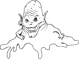 Monster Glue Coloring Pages For Kids