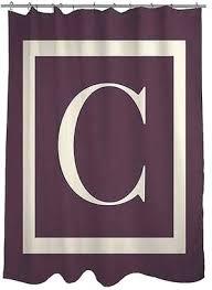 thumbprintz shower curtains at a classic block monogram eggplant shower curtain home design ideas kitchen