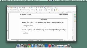 Apa Setup 11 Setting Up An Apa Style Reference Page In Openoffice Writer