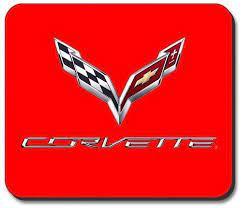 C7 Corvette Emblem Red Computer Mouse Pad Computer Mouse Mouse Pad Emblems