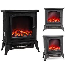 details about uk 2000w fire place log burning flame effect stove heater electric fireplace fan