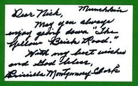 Priscilla Montgomery (RARE) Wizard of Oz Munchkin Signed 3x5 Index Card  T3061 | eBay