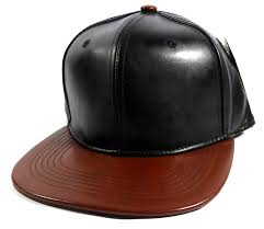 home all hats faux leather blank snapback hats whole black med brown