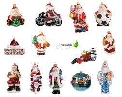 Christbaumschmuck Figuren Weihnachtsmänner Glas Kreativmarkt Butterfly