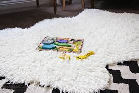 diy a faux sheepskin rug