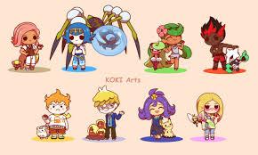 Chibi Pokemon Alola Captains by Koki-arts on DeviantArt