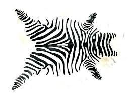 zebra hide rug fake animal print cowhide skin metallic