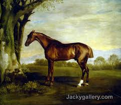 a chestnut racehorse by george stubbs paintings reion